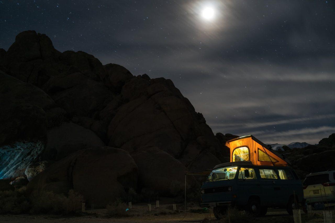 Camping nachts kalt