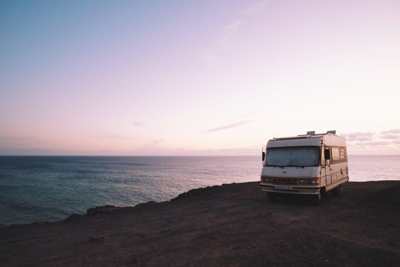 Dämmerung beim Camping