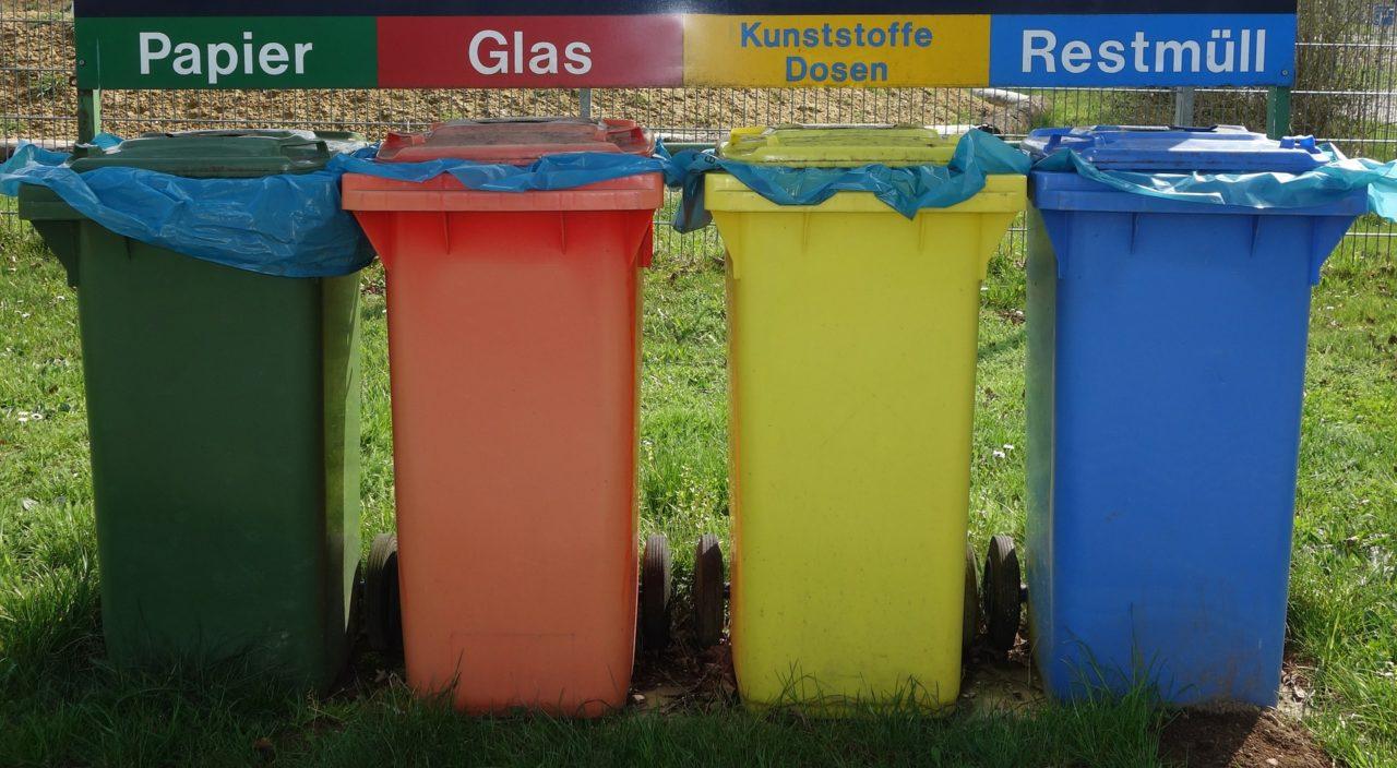 papier glas plastik restmüll tonnen