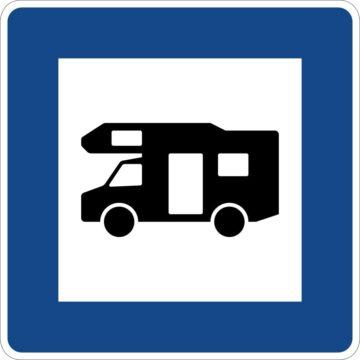 wohnmobil stellplatz zeichen