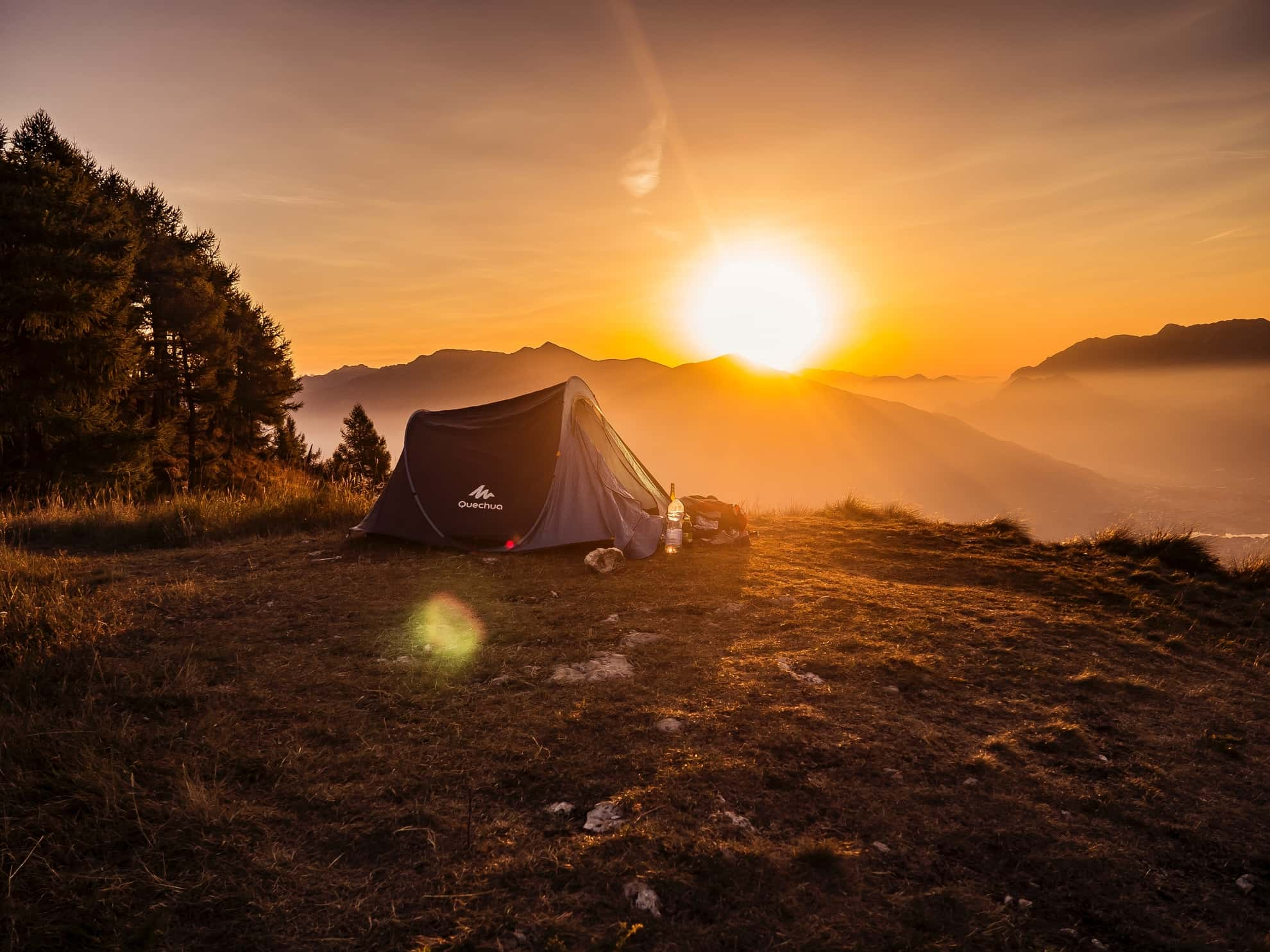 Zelt in den Bergen