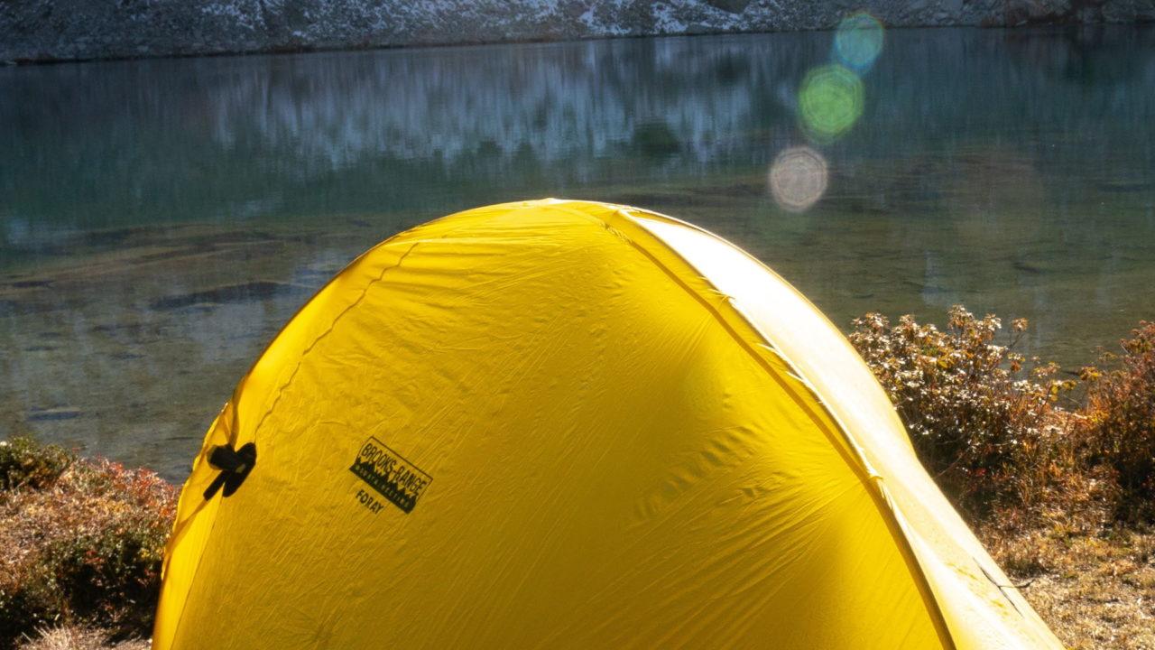 Ultraleicht-Zelt mit Zeltstoff aus Nylon