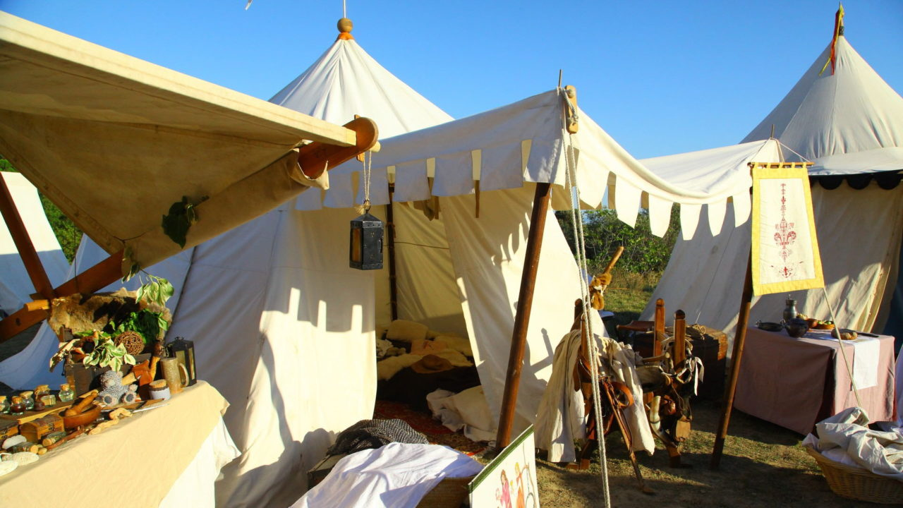 Zelte aus Baumwolle
