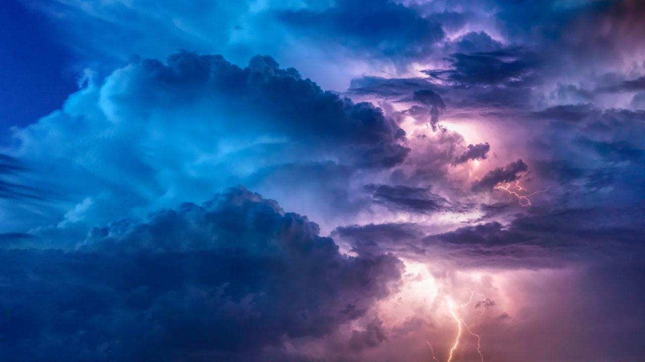 Gewitter Sturm Blitze