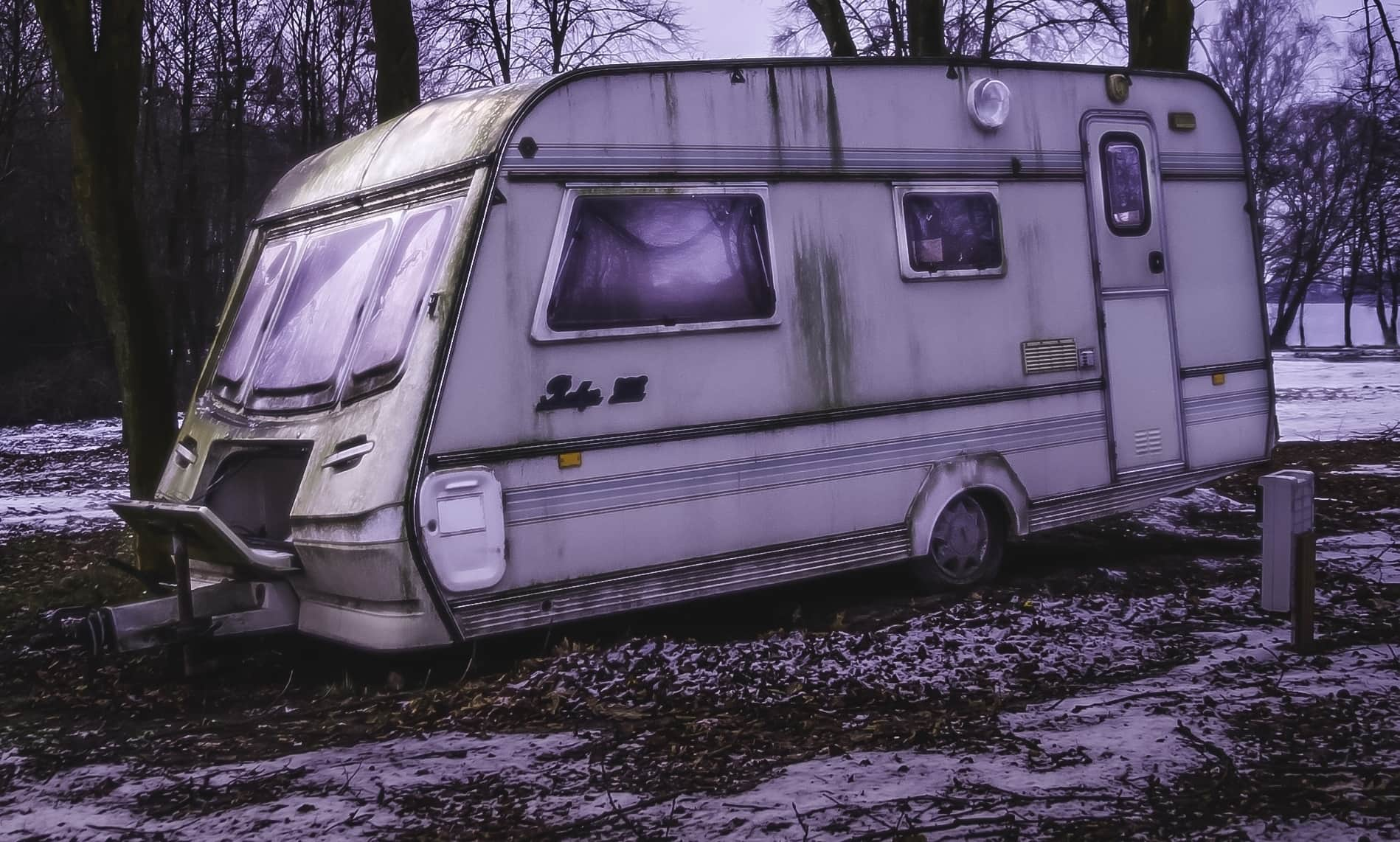 Dreck Wohnwagen Winter Schutz