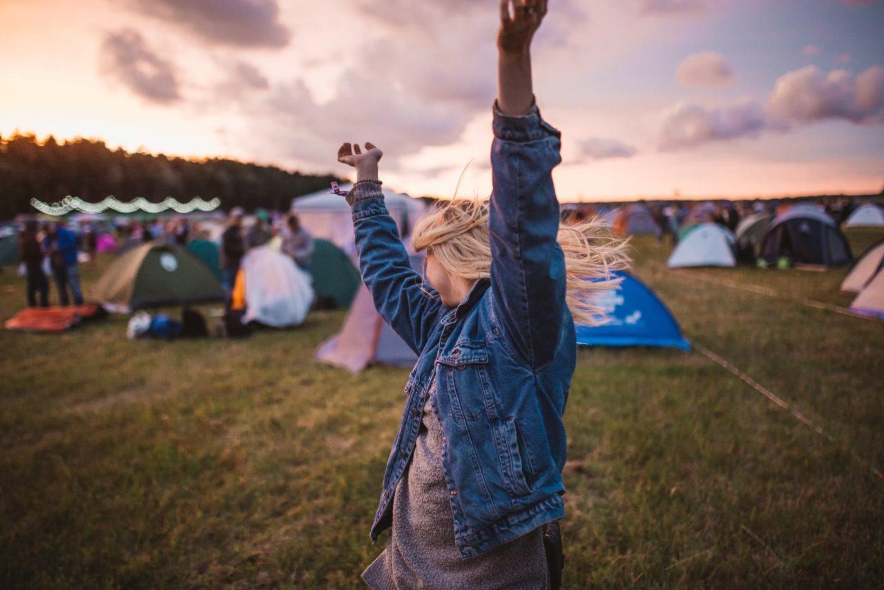 Zelte auf Festival