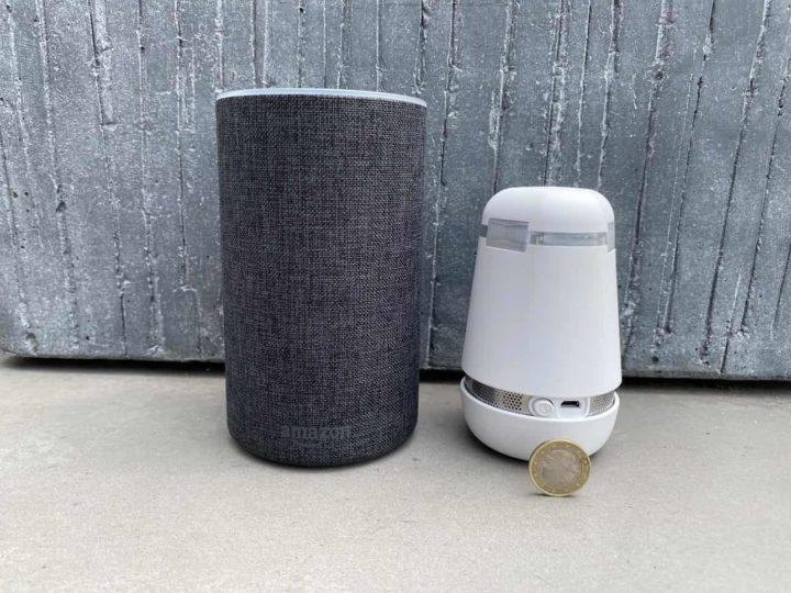 Bosch spexor Größenvergleich mit Münze & Alexa