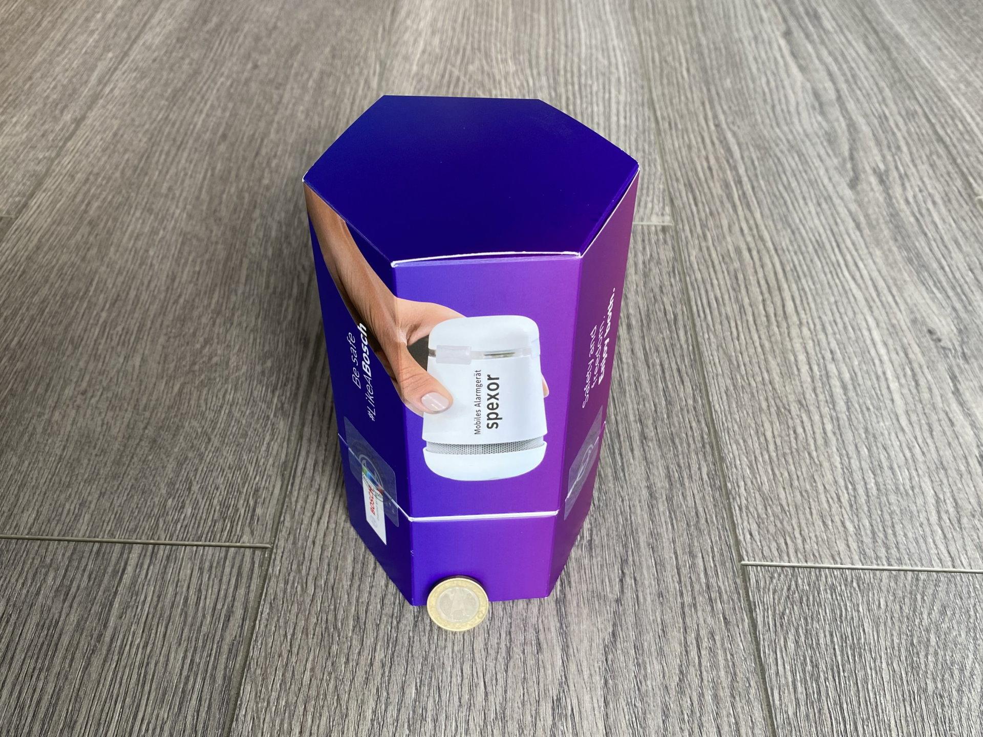 Verpackung des Bosch spexor Testgeräts