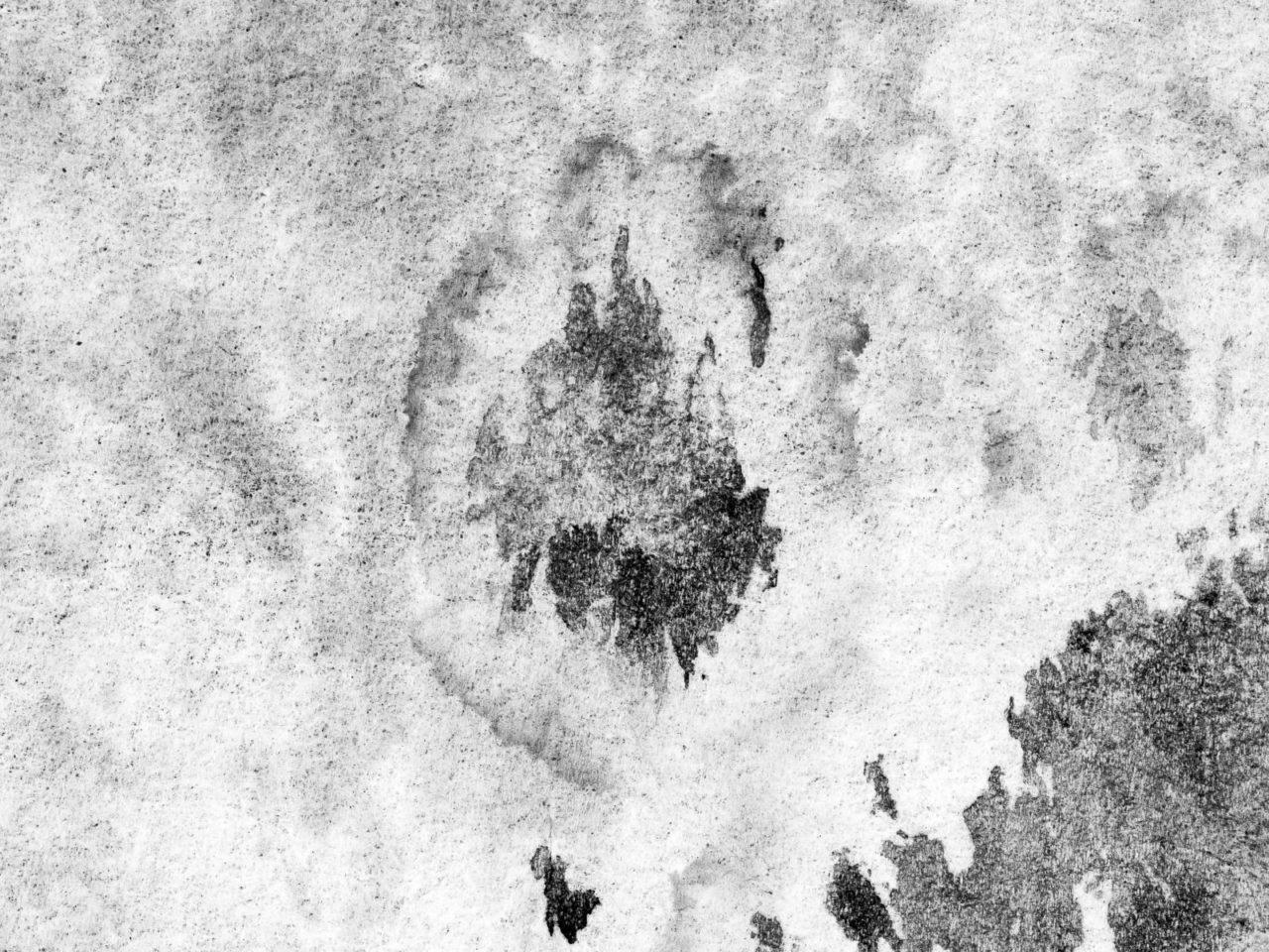 Dunkler Stockfleck auf weißem Stoff