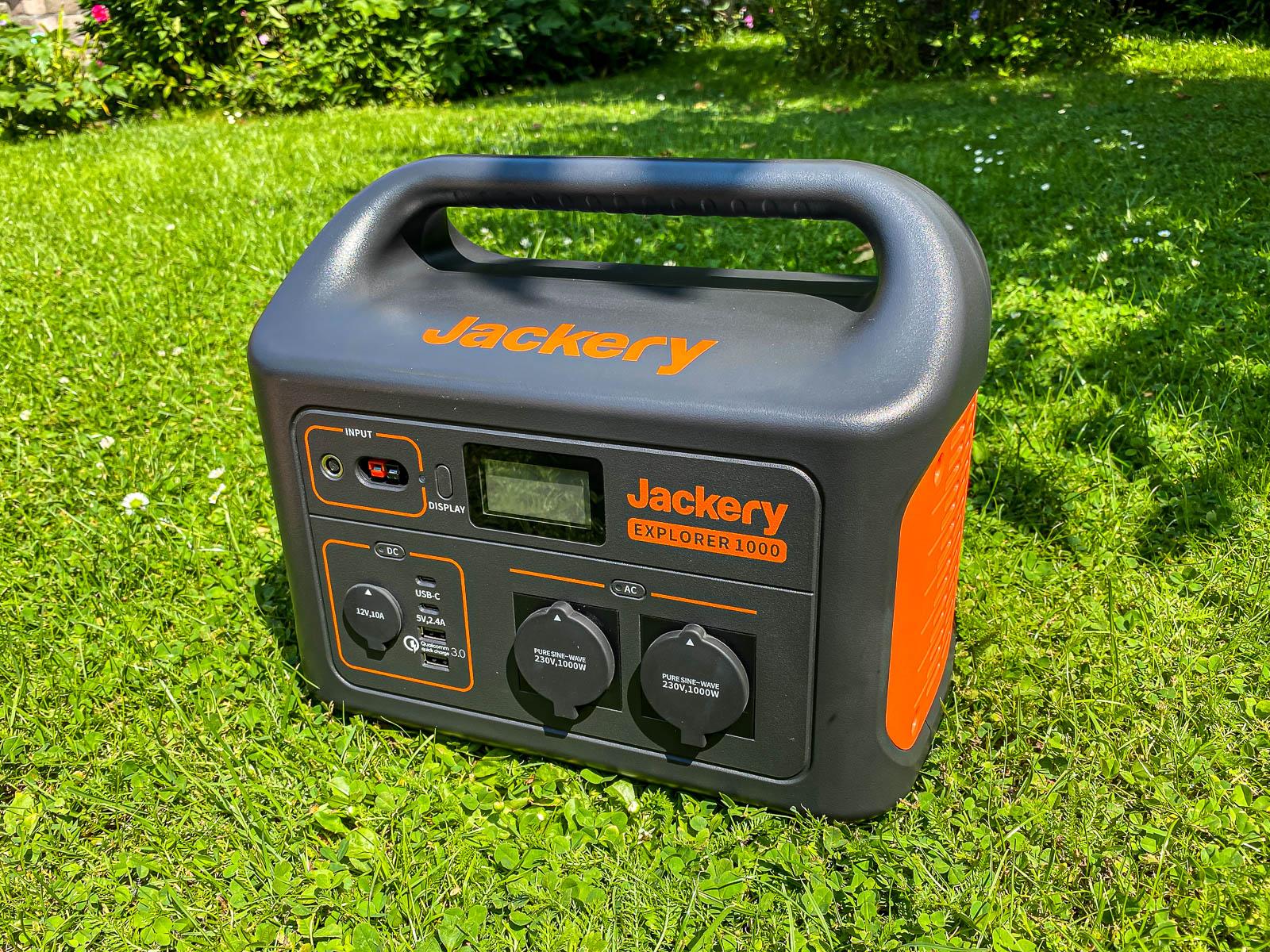Jackery Explorer 1000 Powerstation Test - Front, Anschlüsse, Bedienfeld, Titelbild